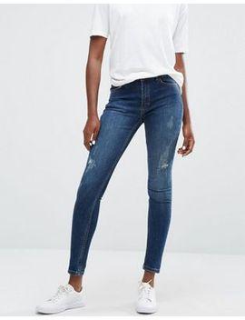 minimum-jagger-skinny-rip-knee-jeans by jeans