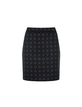 warehouse---tile-jacquard-skirt by warehouse