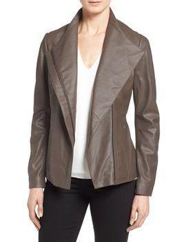 kelly-leather-peplum-jacket by tahari