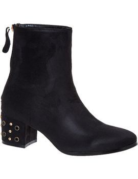 black-suedette-ankle-boots by hot-soles