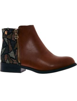 tan-brown-geometric-heeled-boots by xti-territory