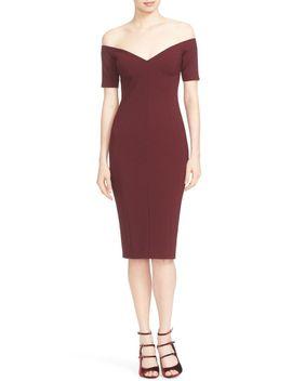 jolie-off-the-shoulder-sheath-dress by cinq-À-sept