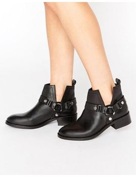 asos-ancha-leather-cut-out-ankle-boots by asos-collection