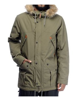 oakley-silver-horse-dark-brush-parka-fit-snowboard-jacket by oakley