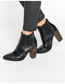 glamorous-stud-point-heeled-ankle-boots by glamorous
