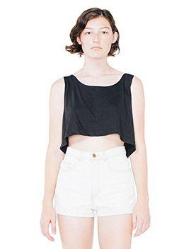 american-apparel-womens-loose-crop-tank-size-os-black by american-apparel