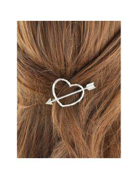 graceful-heart-arrow-hairpin by dress-lily