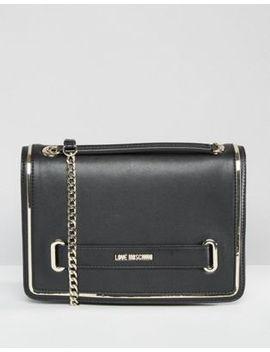 love-moschino-metal-trim-shoulder-bag by love-moschino
