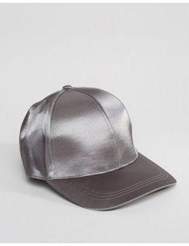 asos-baseball-cap-in-silver-satin by asos