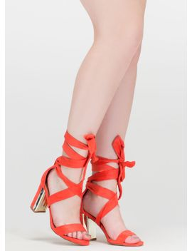 gleam-come-true-chunky-tie-up-heels by gojane