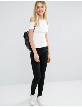 new-look-tall-rib-cold-shoulder-top by new-look