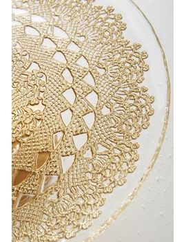 metallic-lace-cake-stand by anthropologie