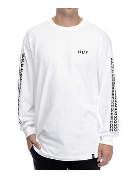 huf-sante-white-long-sleeve-t-shirt by huf