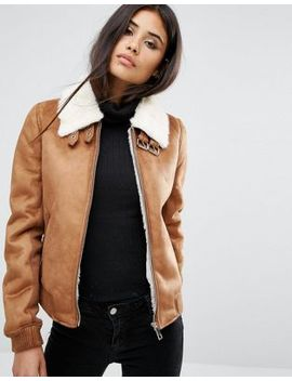 river-island-suedette-bomber-jacket by river-island