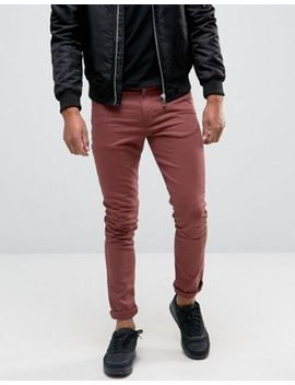 asos-super-skinny-jeans-in-burgundy by asos