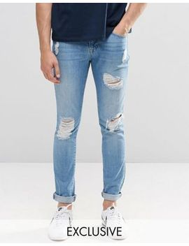 brooklyn-supply-co-super-skinny-jeans-slashed-rips-light-stonewash by brooklyn-supply-co