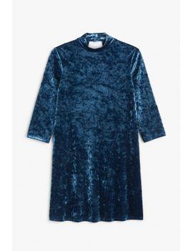 crushed-velvet-dress by monki