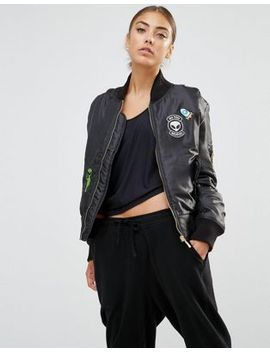 daisy-street-bomber-jacket-with-alien-woven-badges by daisy-street