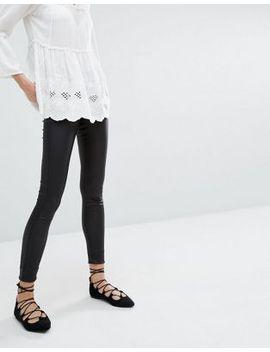 vero-moda-coated-skinny-jeans by vero-moda