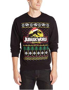 jurassic-park-mens-jurassic-world-ugly-christmas-crew-neck-sweatshirt by jurassic-park