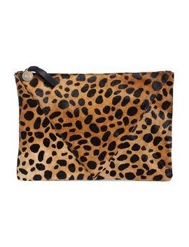 cheetah-print-genuine-calf-hair-clutch by clare-v