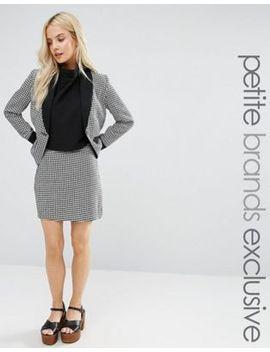 fashion-union-petite-houndstooth-print-mini-skirt by fashion-union-petite