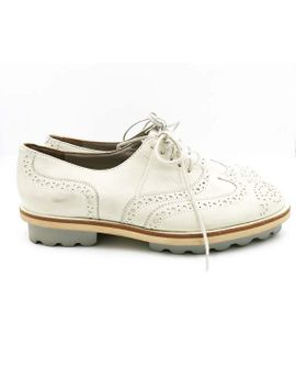 robert-clergerie-white-derby-shoes-size-6 by beyourowntotebag