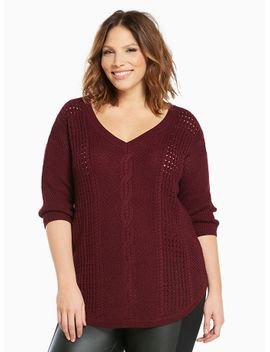 cable-knit-tunic-sweater by torrid