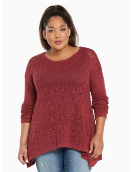 open-stitch-tunic-sweater by torrid