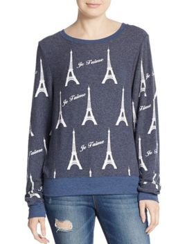 i-love-paris-graphic-sweatshirt by wildfox