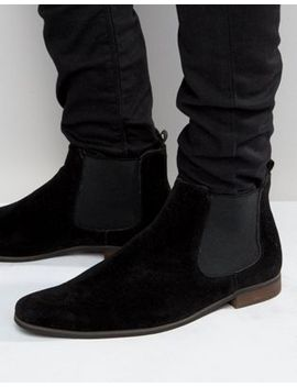 new-look-faux-suede-chelsea-boots-in-black by new-look