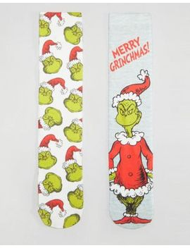 asos-christmas-socks-with-grinch-print-2-pack by asos