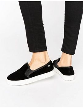 river-island-wide-fit-slip-on-plimsoll by river-island