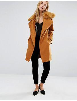 fashion-union-wrap-coat-with-extreme-faux-fur-collar by fashion-union