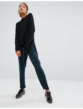 monki---pantaloni-con-pinces-a-quadri by asos