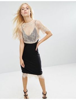 asos-cami-dress-with-lace-layered-t-shirt by asos-collection