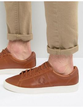 fred-perry-spencer-waxed-leather-trainers by fred-perry