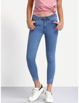frayed-light-blue-skinny-ankle-jeans by romwe