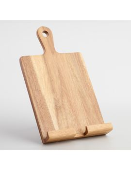 rustic-wood-tablet-and-cookbook-stand by world-market