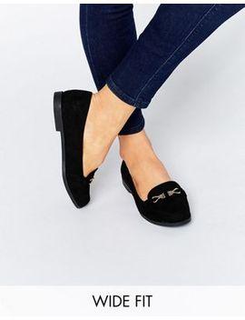 zapatos-planos-de-corte-ancho-con-hebilla-de-new-look by asos
