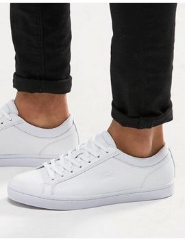 lacoste-straightset-leather-trainers by lacoste