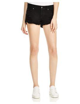 gigi-denim-cutoff-shorts-in-onyx by pistola