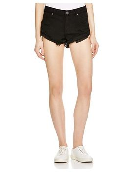 kel-cutoff-denim-shorts-in-onyx by pistola