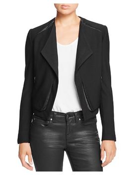 leigh-faux-leather-trim-jacket by lyssé
