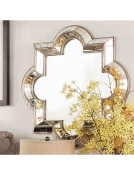inspire-q-olympia-morrocan-mirrored-frame-accent-wall-mirror by generic