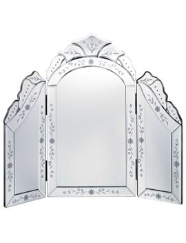 venetian-glass-tri-fold-dressing-table-mirror by generic