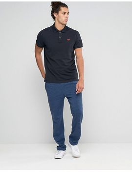 hollister-slim-pique-polo-stretch-seagull-logo-in-black by hollister