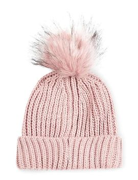tipped-faux-fur-pom-beanie by topshop