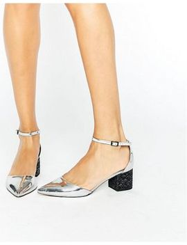 asos-show-up-pointed-glitter-heels by asos-collection