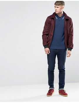 fred-perry-polo-shirt-with-tipping-in-service-blue by fred-perry